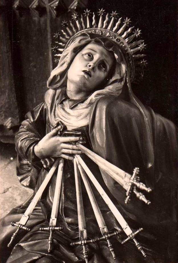 Our Lady of Seven Sorrows in the church of San Miguel in Valladolid, Spain